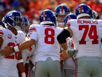 New York Giants Huddle