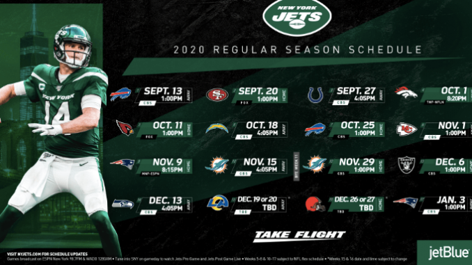 New York Jets Schedule