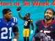week 4 starts and sits